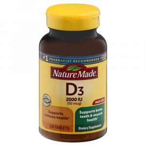 Nature Made Vitamin D3 2000IU Tablets