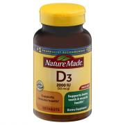 Nature Made Vitamin D3 2000IU Tablets
