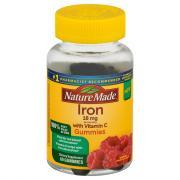 Nature Made Iron With Vitamin C 18mg Gummies