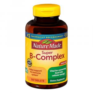 Nature Made Super B-Complex Tablets Vitamin C & Folic Acid