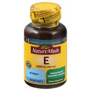 Nature Made E Vitamin 1000 I.U. Softgels