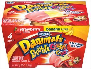 Dannon Danimals Strawberry Banana Yogurt