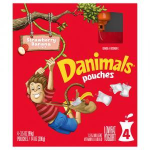 Dannon Danimals Squeezables Swingin' Strawberry Banana Pouch