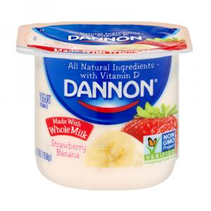 Dannon Traditional Whole Milk Strawberry Banana Yogurt