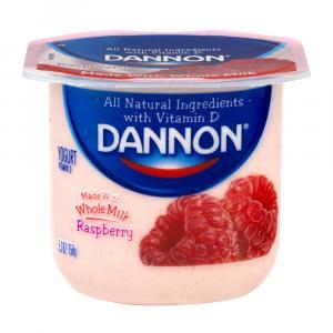 Dannon Traditional Whole Milk Raspberry Yogurt
