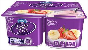 Dannon Light & Fit Strawberry Banana Yogurt