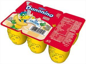 Dannon Dan-o-nino Strawberry, Banana & Raspberry Yogurt