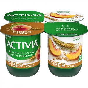 Dannon Activia Peach W/fiber Yogurt