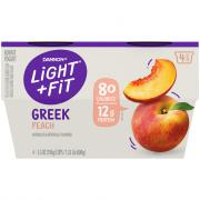 Dannon Light and Fit Peach Greek Yogurt