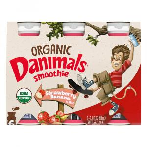 Danimals Organic Strawberry Banana Smoothies