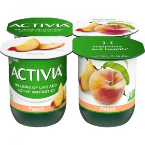 Activia Peach Yogurt