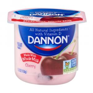 Dannon Traditional Whole Milk Cherry Yogurt