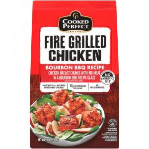 Cooked Perfect Fire Grilled Bourbon BBQ Chicken Chunks