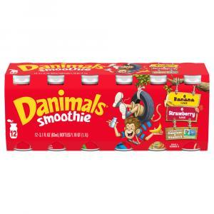 Dannon Danimals Strawberry Explosion/banana Split Smoothies