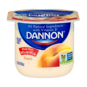 Dannon Traditional Whole Milk Peach Yogurt