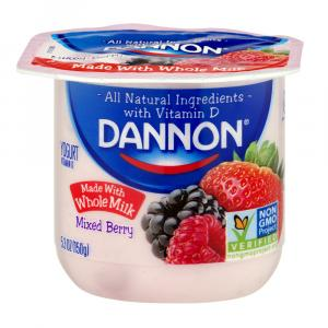 Dannon Traditional Whole Milk Mixed Berry Yogurt