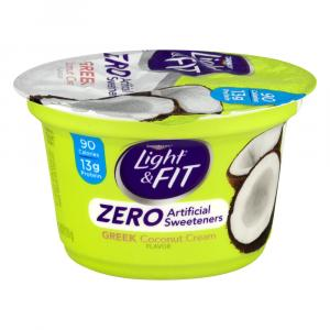 Dannon Light & Fit Zero Coconut Cream Greek Yogurt