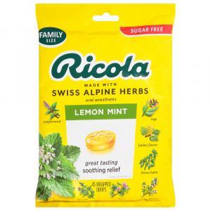 Ricola Sugar Free Lemon Mint Herb Throat Drops