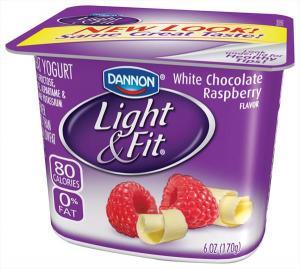 Dannon Light & Fit White Chocolate Raspberry Yogurt