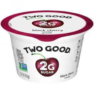 Dannon Two Good Black Cherry Greek Yogurt