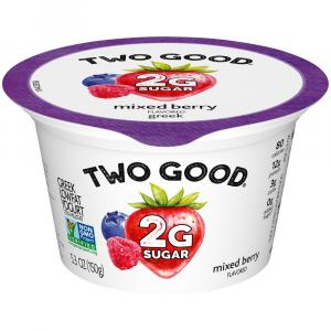 Dannon Two Good Mixed Berry Greek Yogurt