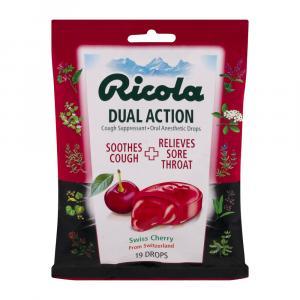 Ricola Dual Action Cherry Cough Drops