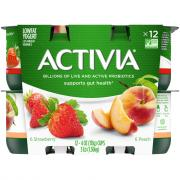 Dannon Activia Peach & Strawberry Yogurt