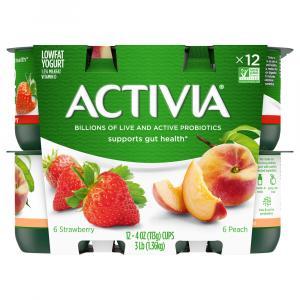 Activia Peach & Strawberry Yogurt