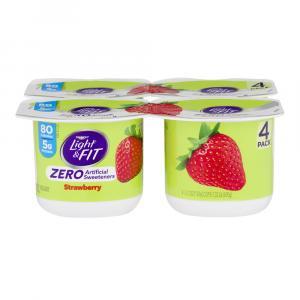 Dannon Light & Fit Zero Traditional Strawberry Yogurt