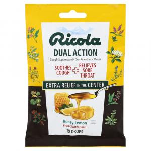 Ricola Dual Action Honey-Lemon Cough Drops