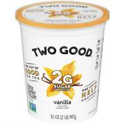 Dannon Two Good Greek Vanilla Yogurt