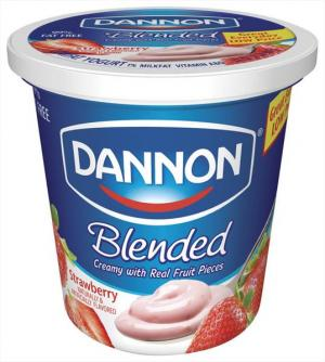 Dannon Blended Strawberry Lowfat Yogurt