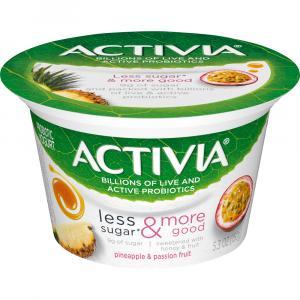 Activia Less Sugar & More Good Pineapple & Passion Fruit