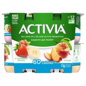 Activia Strawberry Banana & Peach Yogurt