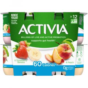 Dannon Activia Strawberry Banana & Peach Yogurt