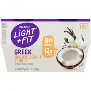 Dannon Light & Fit Greek Toasted Coconut Vanilla