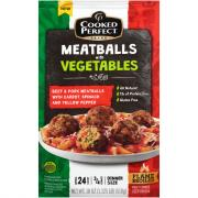 Cooked Perfect Meatballs with Vegetables