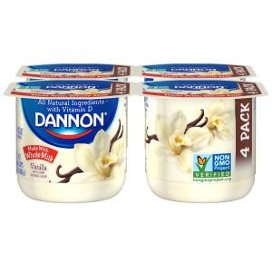 Dannon Whole Milk Vanilla Yogurt