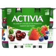 Dannon Activia Mixed Berry & Black Cherry Lowfat Yogurts