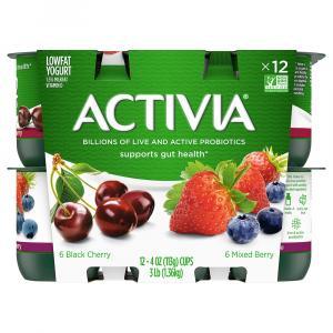 Dannon Activia Mixed Berry & Black Cherry Lowfat Yogurts