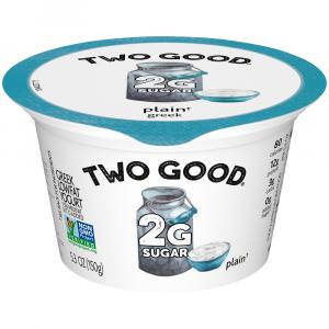 Dannon Two Good Plain Greek Yogurt