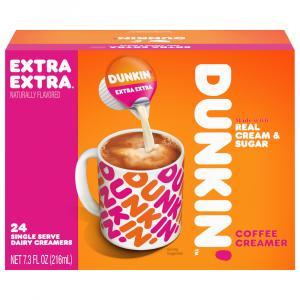 Dunkin' Extra Extra Single Serve Dairy Creamers