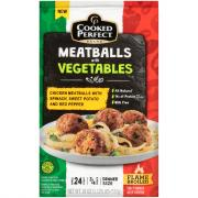 Cooked Perfect Chicken Meatballs with Vegetables