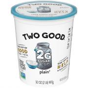 Dannon Two Good Greek Plain Yogurt
