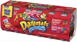 Dannon Danimals Strawberry Smoothies