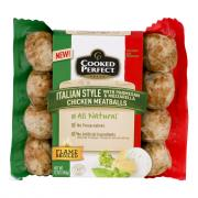 Cooked Perfect Italian Style Chicken Meatballs