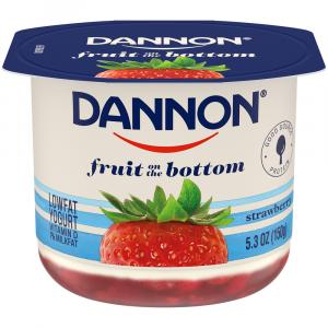 Dannon Fruit on the Bottom Strawberry Low Fat Yogurt
