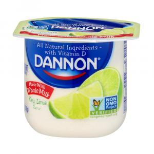 Dannon Traditional Whole Milk Key Lime Yogurt