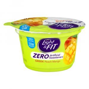 Dannon Light & Fit Zero Peach Mango Greek Yogurt