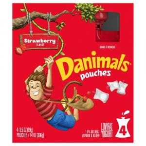 Dannon Danimals Squeeze Strawberry Explosion Pouch